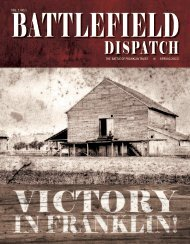 Battlefield Dispatch - Spring, 2013 - Historic Carnton Plantation