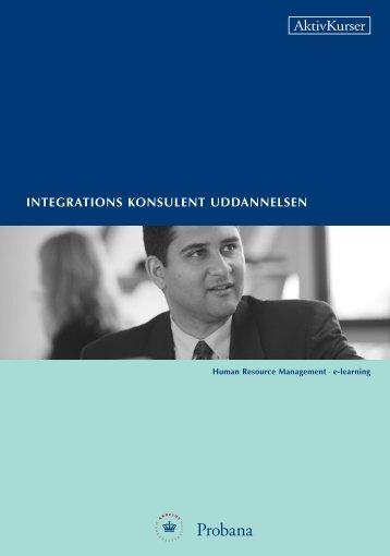 integrations konsulent uddannelsen