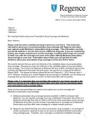 Creditable coverage letter