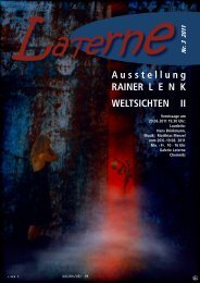 Ausstellung RAINER L E N K WELTSICHTEN II - Galerie Laterne