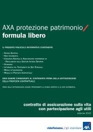 AXA protezione patrimonio formula libero - AXA Assicurazioni