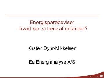 Energisparebeviser - hvad kan vi lære af ... - Ea Energianalyse