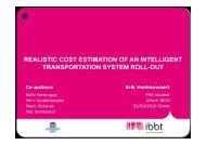 realistic cost estimation of an intelligent transportation