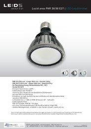 Lucid area PAR 30/38 E27 | LED-Leuchtmittel - REGO-Lighting GmbH