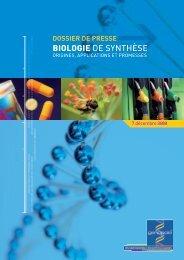 BIOLOGIE DE SYNTHÈSE - Genopole