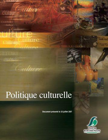 Politique culturelle - Ministère de la Culture et des Communications ...