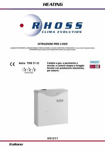 H51211-v07 Manuale Istr. per l'uso Astra TISE 27-31 ... - Rhoss