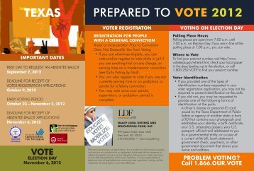 PREPARED TO VOTE 2012 TEXAS - NAACP Legal Defense and ...