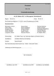 Protokoll über die Gemeinderatssitzung - Ligist