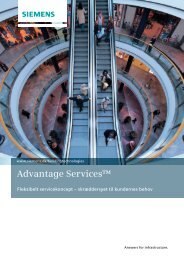 Advantage Services™ - Siemens A/S