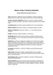 Dzeno vardą ir terminą žodynėlis - Kwan Um School of Zen Europe
