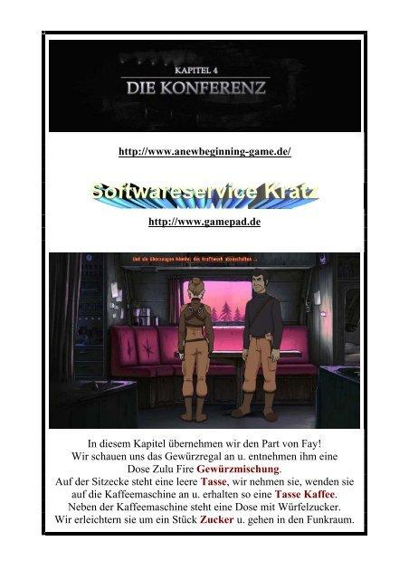 A New Beginning - Lockes deutsche Lösung - Kapitel 4 - Gamepad.de