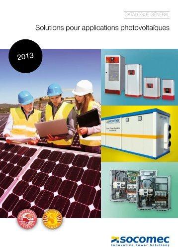 Solutions pour applications photovoltaïques - Socomec