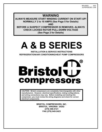 Bristol compressors - Desco Energy