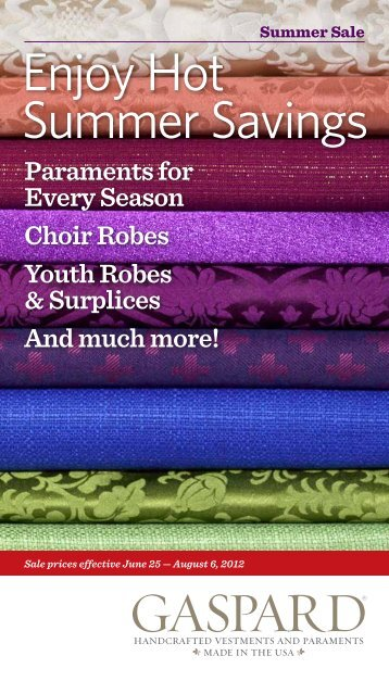 Paraments for Every Season Choir Robes Youth ... - Gaspard, Inc.
