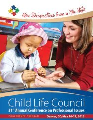 Professional Development Hours (PDHs) - Child Life Council