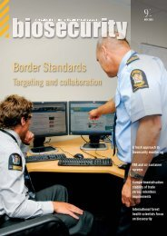 Border Standards - Biosecurity New Zealand