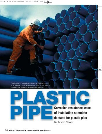 Plastic Pipe is Corrosion Resistant - Plastics Pipe Institute