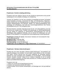 Information till pressmeddelande efter SK den 19-20 maj 2009
