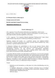 Levél Kökényesi Úr részére - Független Büntetés-végrehajtási ...