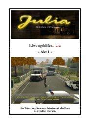 Julia - Tödliches Verlangen - deutsche Lösung - Akt 1 - Gamepad.de