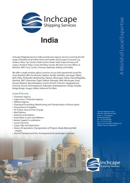 India - Inchcape Shipping Services