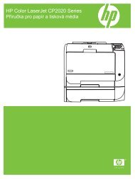 HP Color LaserJet CP2020 Paper and Print Media Guide - CSWW