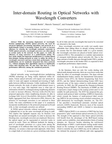 Inter-domain Routing in Optical Networks with Wavelength Converters
