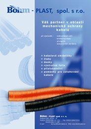 Váš partner v oblasti mechanické ochrany kabelů - Böhm–extruplast ...
