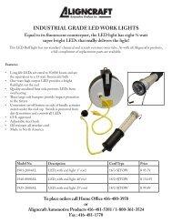 INDUSTRIAL GRADE LED WORK LIGHTS - Ctequipmentguide.ca