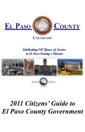 2011 Citizens - Administration Home - El Paso County Government