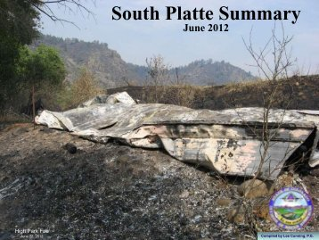 South Platte River Summary - June 2012 - Colorado Division of ...