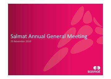 2010 Annual General Meeting - Presentation - Salmat