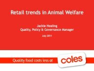 Retail trends in animal welfare - Animal Welfare Science Centre