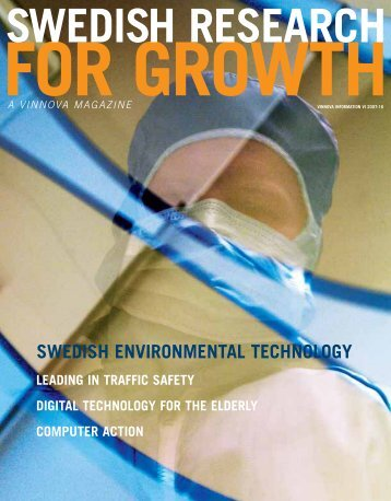 Swedish Research for Growth - A VINNOVA Magazine