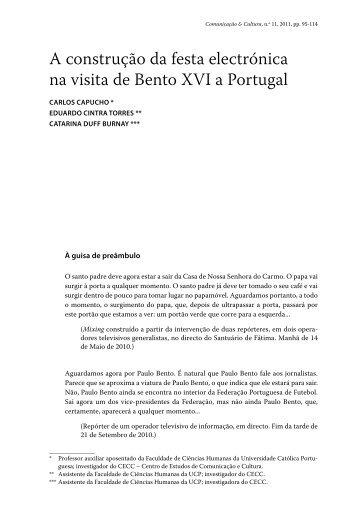 A construção da festa electrónica na visita de Bento XVI a Portugal