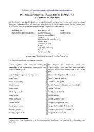 Registrieranweisung von 1616 für die Orgel von St. Leonhard in ...
