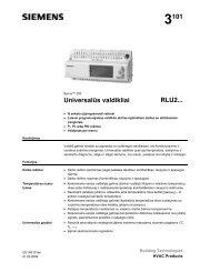Universalus valdiklis RLU2 - Siemens