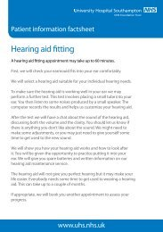 Hearing aid fitting patient information