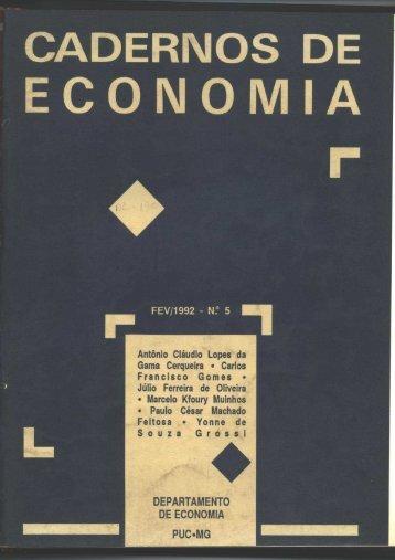 Cadernos de Economia no.5 - ICEG