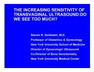 The increased sensitivity of transvaginal ultrasound