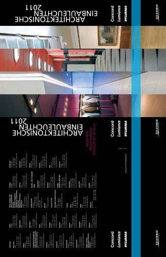 ARCHITEKTONISCHE EINBAULEUCHTEN 2011 ... - Havells-Sylvania