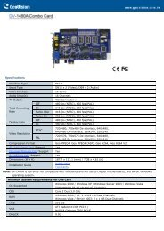 Specifications Interface Type PCI-E Input Type DB15 ... - TCS Controls