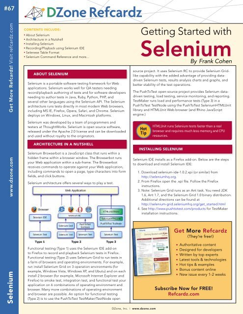 Selenium - Cheat Sheet