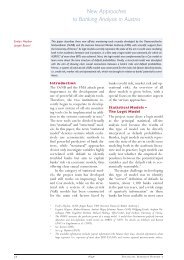Financial Stability Report 7 - New Approaches to Banking Analysis ...