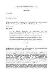 OBERLANDESGERICHT FRANFURT AM MAIN BESCHLUSS 11 ...