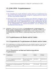13. § 104 GWB - Vergabekammern - Oeffentliche Auftraege