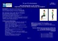Fit am PC-Arbeitsplatz - Technische Universität Wien