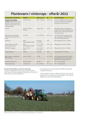 Planteværn i vinterraps - efterår 2012 - NSCORN