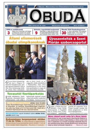 Óbuda Újság 2012/19. szám - Óbuda-Békásmegyer